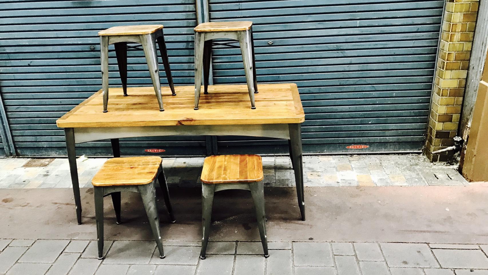 インダストリアルなダイニングテーブル買取させて頂きました。岡山倉敷の買取屋さん